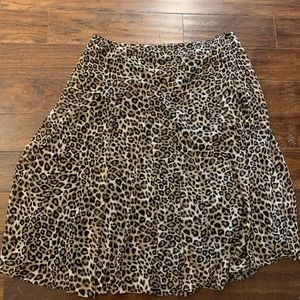 WORN ONCE Leopard Print Skirt from Chico's!